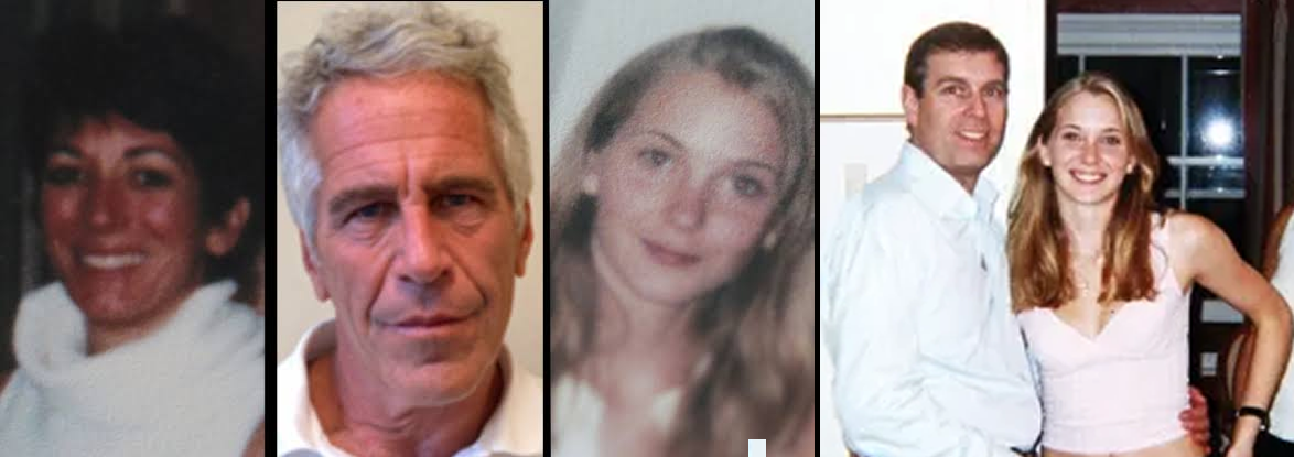 Ghislaine Maxwell, Jeffrey Epstein, Virginia Roberts, Prince Andrew and Virginia Giuffre, then known as Virginia Roberts,