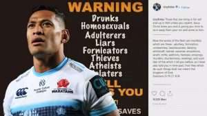 Israel Folau's four-year contract terminated in May after sharing a homophobic social media post.