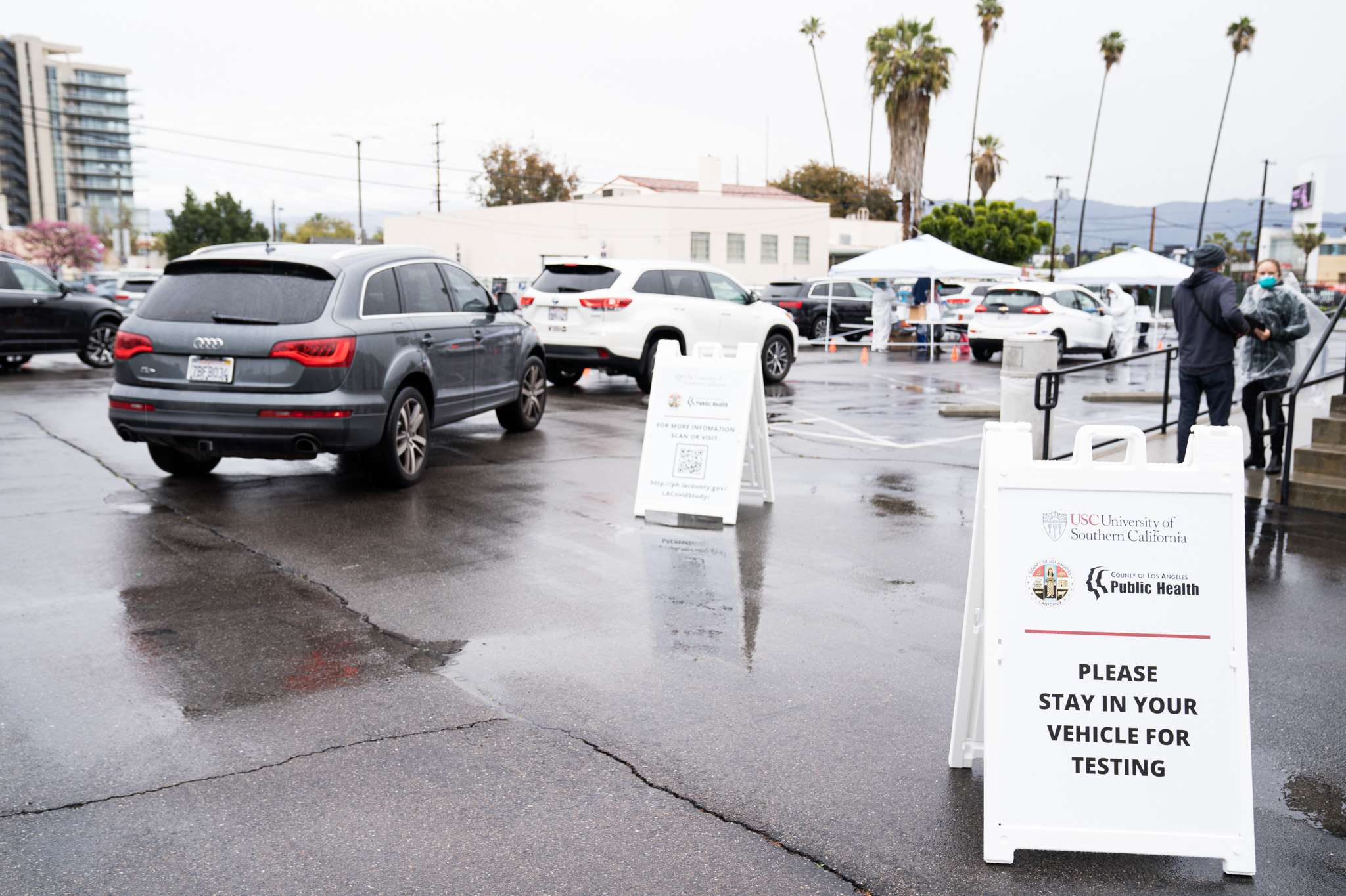 A rapid antibody test was used for the study, which was conducted at six drive-through test sites. | USC Price