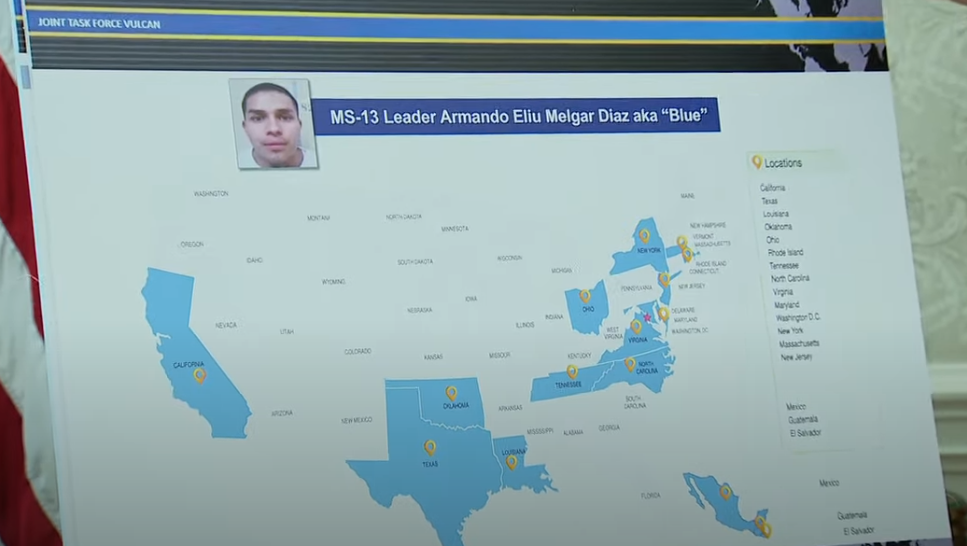 """Armando Eliú Melgar Díazaka BLUE (on """"terrorism charges"""")responsible for MS-13 activities in 13 States and 20 clicks in USA he was also the person who would green light Assassinations in the USA"""