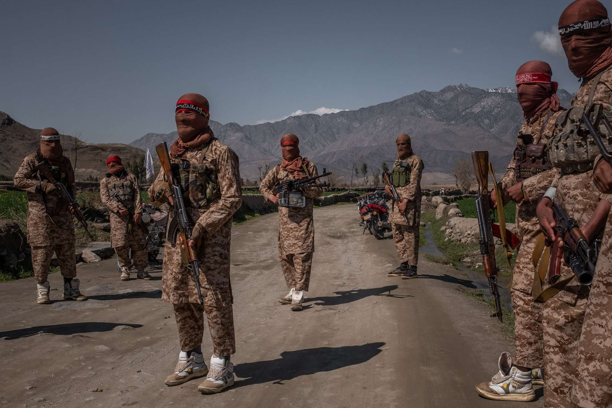 Members of a Taliban Red Unit, an elite force, operating in the Alingar district in March.Credit...Jim Huylebroek for The New York Times