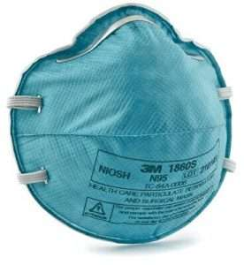 3M™ Health Care Particulate Respirator and Surgical Mask 1860S, Small