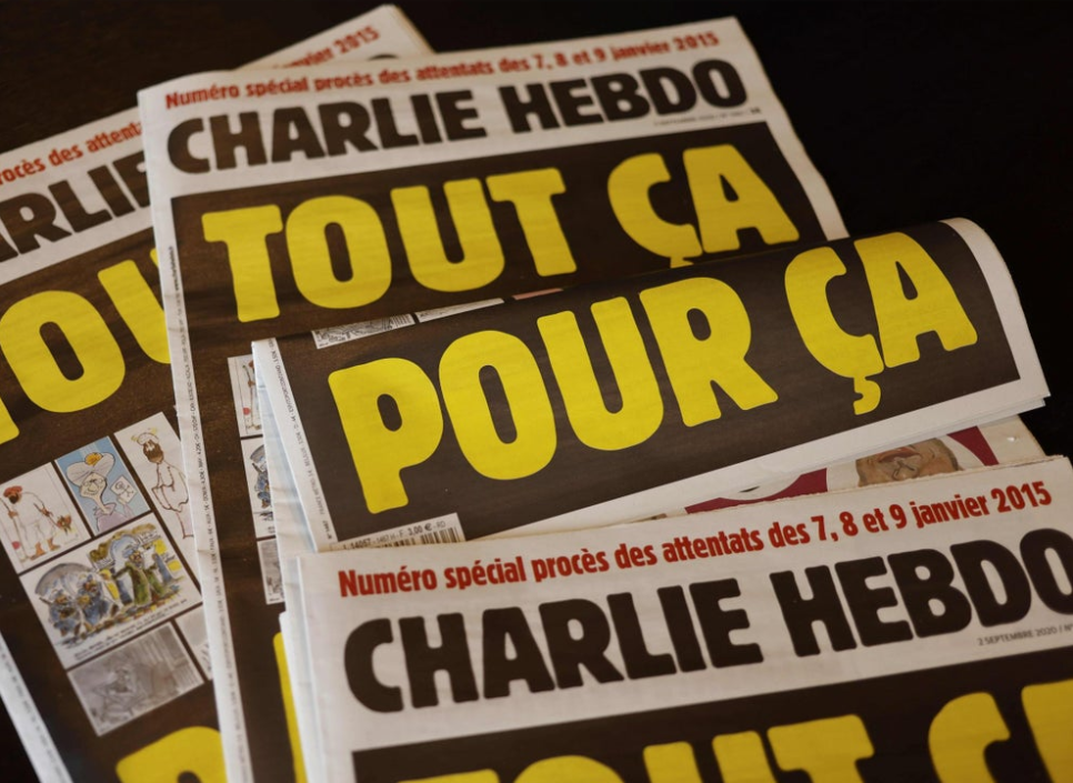Charlie Hebdo (French pronunciation: ​[ʃaʁli ɛbdo]; French for Charlie Weekly) is a French satirical weekly magazine, featuring cartoons, reports, polemics, and jokes. Irreverent and stridently non-conformist in tone, the publication describes itself as above all secular, skeptic, and atheist, far-left-wing, and anti-racist publishing articles about the extreme right (especially the French nationalist National Front party), religion (Catholicism, Islam, Judaism), politics and culture.