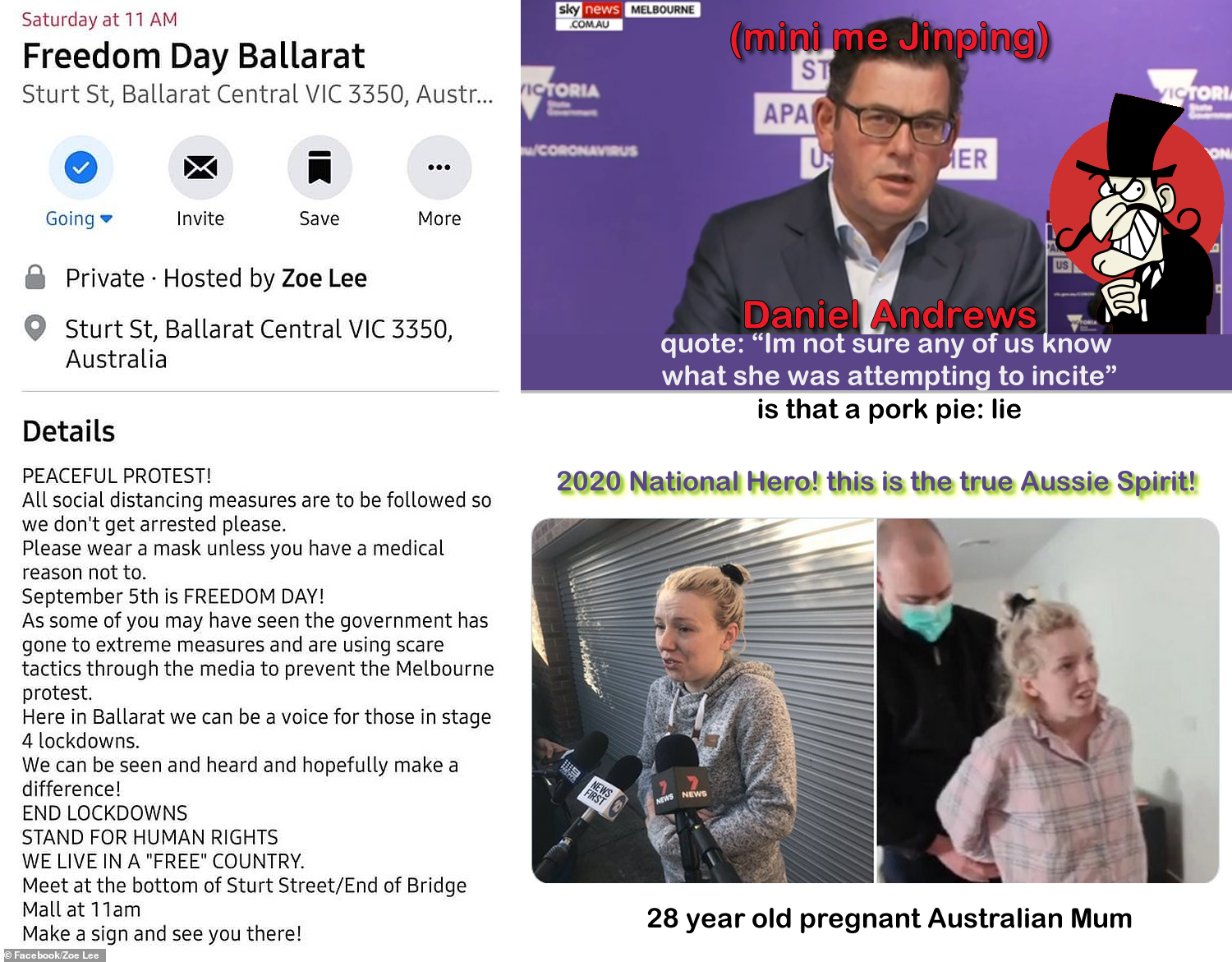 DICTATOR (mini me Jinping) DANIEL ANDREWS VICTORIAN GOVERNMENT AT ITS FINEST CCP HOUR