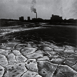 The landscape surrounding a coal mine in the Polish region of Silesia in 1978