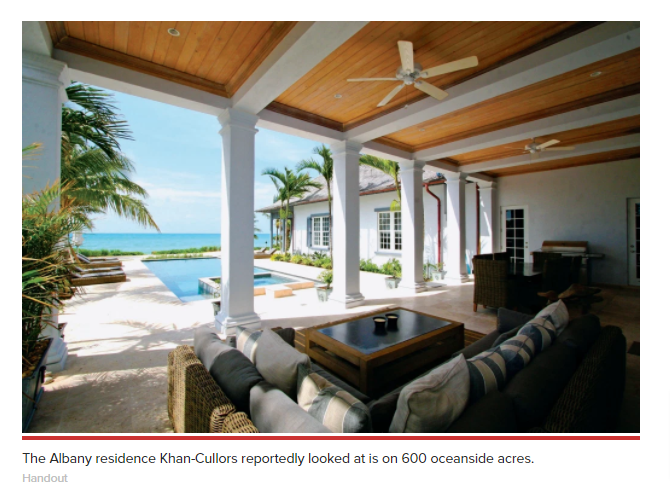 """elite enclave is laid out on """"600 oceanside acres"""" and features a private marina and designer golf course. Current homes for sale include a nearly 8,000-square-foot, six-bedroom townhouse with a media room and marina views."""