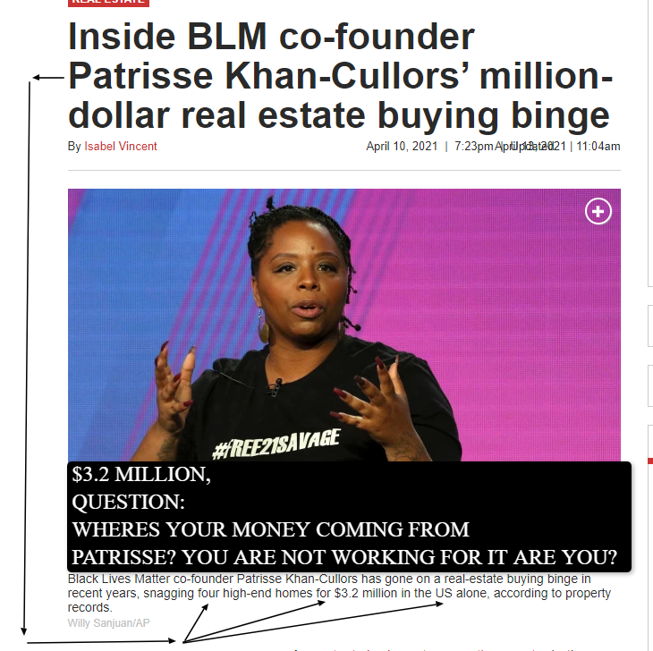 The GENESIS of BLM co-founder Khan-Cullors from MARXIST to CAPITALISTIC