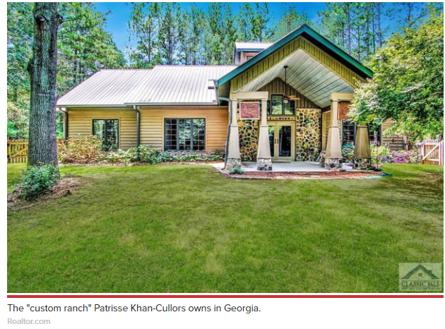 """Georgia to acquire a fourth home — a """"custom ranch"""" on 3.2 rural acres in Conyers featuring a private airplane hangar with a studio apartment above it, and the use of a 2,500-foot """"paved/grass"""" community runway that can accommodate small airplanes."""